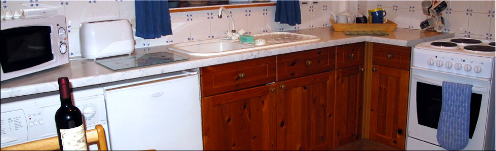 Both cottages have a fully equipped kitchen